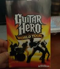 BOOKLET/MANUAL ONLY FOR GUITAR HERO WORLD TOUR PS2 (NO GAME)-  FREE POST