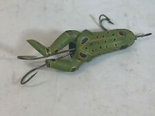 Vintage Rhodes Rubber Jointed Spotted Frog Lure Shakespeare