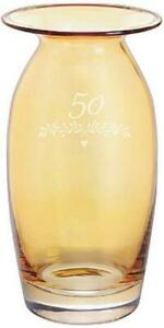 Dartington Crystal celebration vase - 50 gold wedding anniversary / birthday