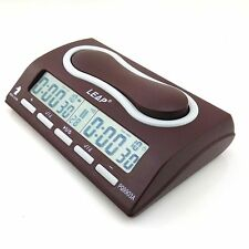 Pro Competition Brown ABS Chess/Chinese Chess/Go Digital Clock Game Timer C9903A