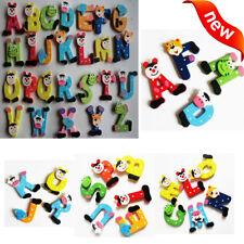 Popular 26 Pcs Wooden Cartoon Alphabet A-Z Magnets Child Educational Toy