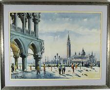 Antonio Missinato (Italian 20 century) Watercolor Painting BASILICA DI SAN MARCO