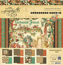 Graphic45 ENCHANTED FOREST 12x12 PAPER PAD scrapbooking (24) SHEETS