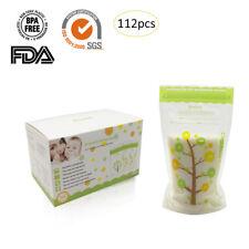 120pcs Pre-Sterilised Breastmilk Baby Breast Milk Storage Zipper Seal Bags Pouch
