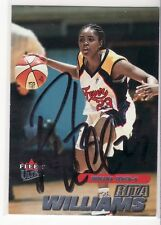 Rita Williams Indiana Fever Connecticut Autographed Basketball Card