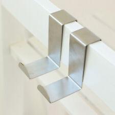 Hanger Drawer Hook Over Cupboard Hooks Stainless Steel Kitchen Office Pack