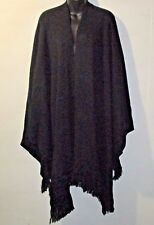 Cape 2X 3X Plus Style&Co $70 NWT Deep Black Poncho Open Front Luxury Soft BLK