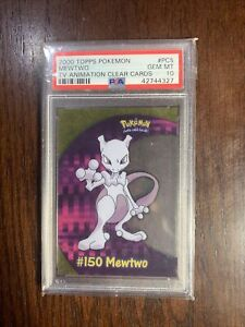 2000 Topps Pokemon TV Animation Mewtwo Clear Card #PC5 PSA 10 GEM MINT