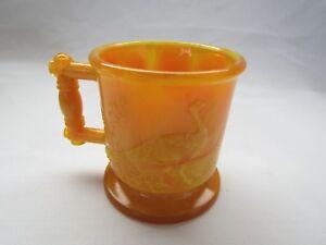 BOYD ART GLASS CHILDS MUG CUP  (LIGHT MARIGOLD) FIRST FIVE YEARS
