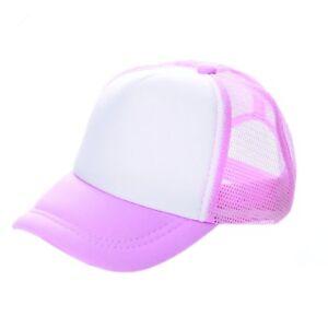 ADULT WOMENS LIGHT PINK BLANK BASEBALL TRUCKER SNAPBACK MESH HAT (PACK OF 10)