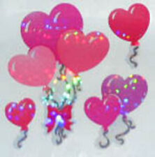 GLITTERY HEART BALLOONS Stickers - Sandylion Stickers - FREE SHIPPING OFFER