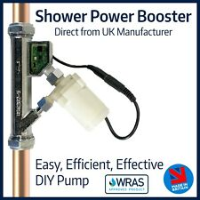 Shower Power Booster | Fully Automatic Quiet In Line Pump | Double your flow!