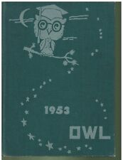 1953 Brillion Wisconsin High Scool Yearbook Owl