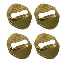 4 PCS Mugen Power Gold Stainless Steel Door Lock Striker Cover for Honda