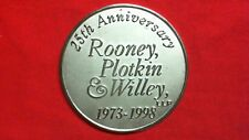 Medal Medallion Coin Rooney, Plotkin & Willey LLP R3T1