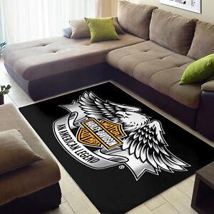 Harley Davidson Ver14 Area Rug Bedroom Rug Home US Decor