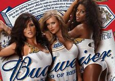 BUDWEISER GIRLS BEER ADVERTISING HOT MODELS A3 ART PRINT PHOTO POSTER AMK3011