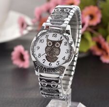 Orologio Donna Orologio da polso elastico bracciale nero bianco gufo