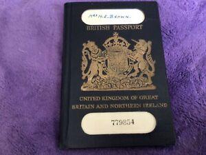 VINTAGE BRITISH PASSPORT 1954