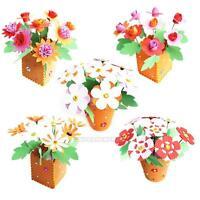3D Handmade EVA Flower Pot Educational Toy Kids DIY Craft Kits For Children Girl