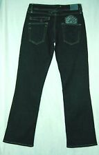 $220 Long PATCH Pocket Black/Gray SO Low Flare TAVERNITI Peggy ATRIUM Jeans 28
