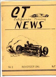 CT California Timing News Nov 1946 #7-Very rare Auto Racing publication!