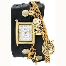 New With Box!! La Mer Watch Viva Las Vegas Wrap Watch In Black 100% Authentic!!