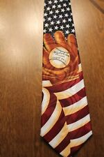 Brand New American Flag With A Big Glove New Navy Blue Neck Tie #103