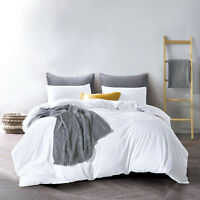 Luxury 100% Cotton Duvet Quilt Cover Set Single Double King Size Bedding Set