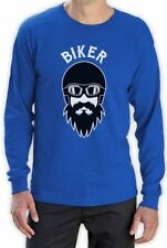 Long Sleeve Graphic Tee Biker T-Shirts for Men