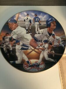 Mantle & Mattingly Yankee Tradition 10 ¼Plate Gold Signed Edition