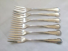 WMF 3200 Barock 6 Kuchengabeln 15,8 cm 90er Silber TOP - mehrere