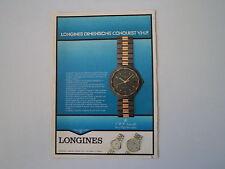 advertising Pubblicità 1984 OROLOGIO LONGINES CONQUEST VHP
