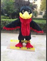Halloween Red Hawk Mascot Costume Falcon Eagle Anime Kit Theme Dress Carnival