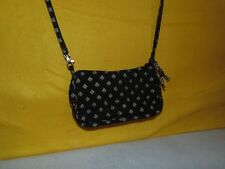 Vera Bradley Black Checked Print Qulited Shoulder Bag: Small