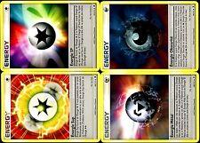 Lot 4 cartes POKEMON ENERGIES (SUP SPECIALE OBSCURITE METAL) Neuves 99 à 102/111
