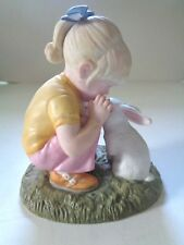 Vintage 1985 Pemberton & Oakes Figurine Girl With Bunny Tender Moment #'d 3688