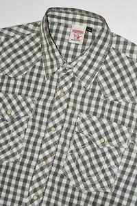 True Religion Pearl Snap Button Down Shirt Women 2XL Western Short Sleeve B21