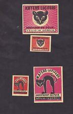 Old Matchbox  label Belgium BN30473 Cat
