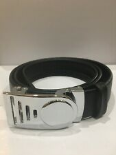Custom Men's Leather Ratchet belt with Darth Vader inspired buckle