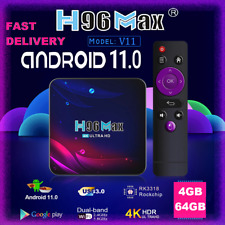 More details for (2021) h96 max v11, 4gb+64gb, android box, android 11.0, smart tv box, wifi 4k