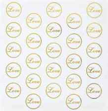 Wilton Love (Clear/Gold) Seals - 50