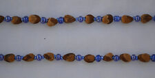 "32"" Bright Blue Navajo Ghost/Cedar Beads Necklace. Juniper Berry by L. Bitsoie."