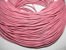 2m PINK  GENUINE LEATHER CORD 2mm
