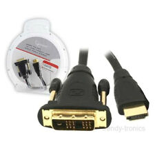 5M placcato oro HDMI maschio a DVI MASCHIO PC TV LCD Cavo Lead per monitor