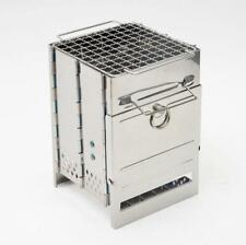 Outdoor Survival Stove - Stainless Steel Folding - Camping Burning BBQ Portable
