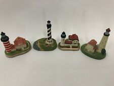 Lot Of 4 Vintage Harbour Lights Spyglass Collection Mini Lighthouses