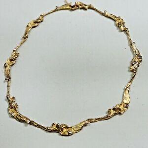 klassisch, prunkvolles Lapponia Designer Collier in 585 Gold, 40 cm, = 31,3 g