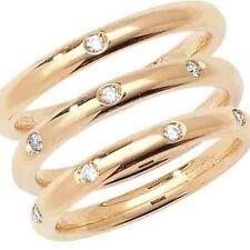 Anillos de joyería con diamantes en oro amarillo VS2