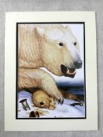 Contemporary Art Print Polar Bear Skull Hour Glass American Artist Walton Ford